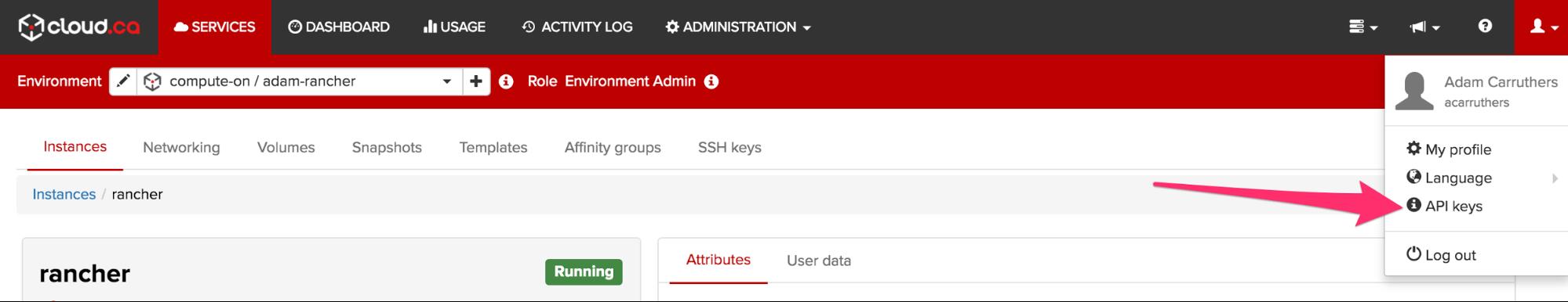 cloud.ca API keys.png